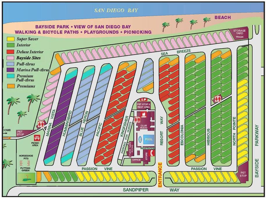 Chula Vista RV Resort Map - San Diego, California